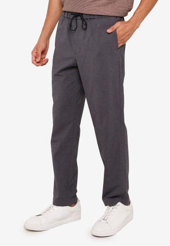 RAGEBLUE grey Casual Drawstring Pants CE83CAA63841BFGS_1