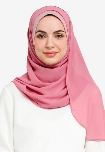 UMMA pink Azra Semi Instant Ballet Hijab A1312AAFD24BC3GS_1
