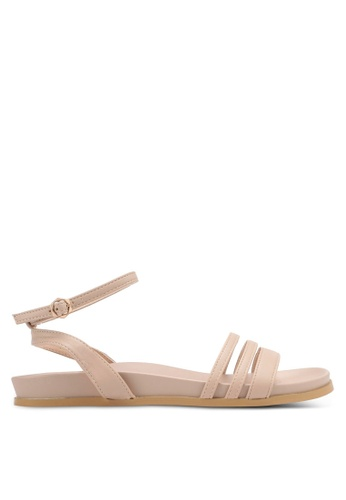 Something Borrowed pink Double Strap Footbed Sandals CC912SH38384EEGS_1
