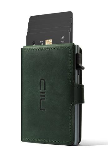 NIID green NIID RFID Security Slide Mini Leather Wallet Emerald(Green) A9E05AC2E28A1FGS_1