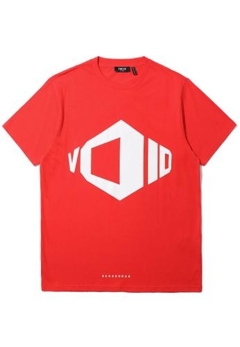 Fivecm red Void geometric print tee 6EE69AA14B3FBFGS_1