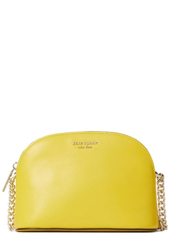 Kate Spade yellow Kate Spade Spencer Small Dome Crossbody Bag in Light Bulb 1BDC1AC0C6094AGS_1