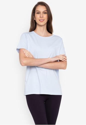 MARKS & SPENCER blue Pure Cotton Crew Neck T-Shirt C04E8AAE073393GS_1