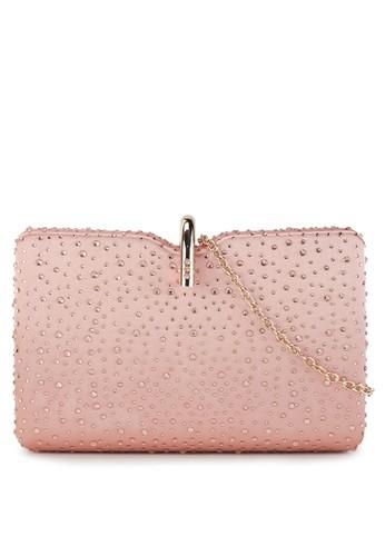 LYONS pink Eleanor Rhinestone clutch DDB84ACC909329GS_1
