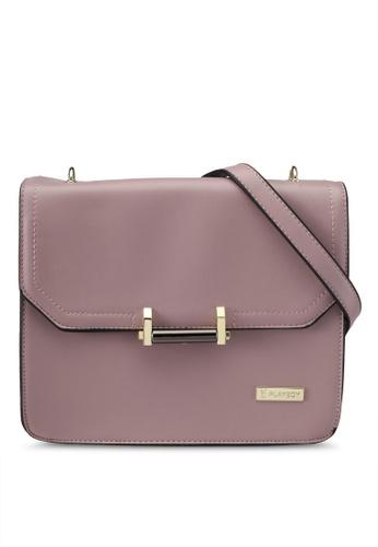 PLAYBOY BUNNY purple Playboy Bunny Sling Bag PL604AC0SMLHMY_1