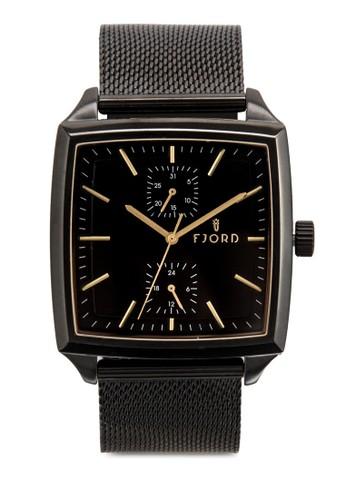 Fesprit hkinn 方框網眼錶帶手錶, 錶類, 飾品配件