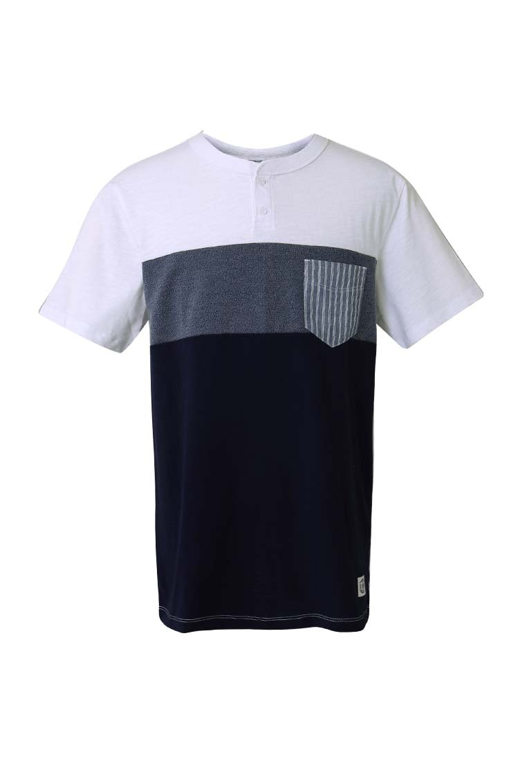 T Henley Shirt Pocket Collar CONNECT Blue H rqwwEx