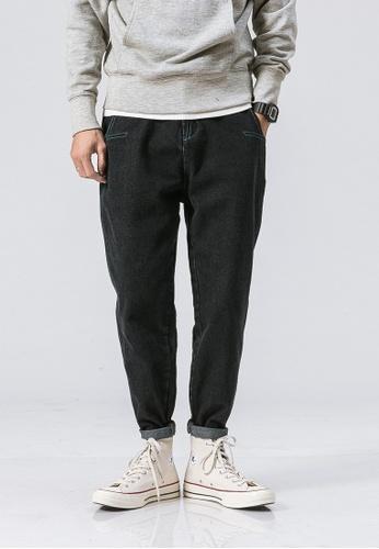 hk-ehunter black Casual Regular Fit Denim Jeans 4227AAAB9DAAF9GS_1