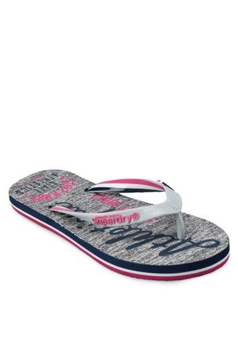 印花夾腳拖, 女鞋esprit mongkok, 拖鞋