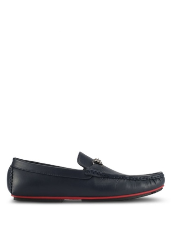 UniqTee blue Sleek Driving Shoes With Buckle 868EFSH86CFFF9GS_1