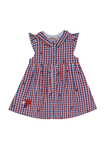 DU PAREIL AU MÊME (DPAM) multi Printed Flare Dress 620FFKA1A78A9DGS_1