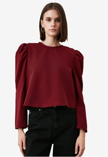 Trendyol red Long Sleeve Balloon Blouse 11AE5AA2089427GS_1