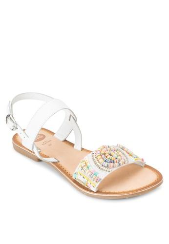 Dove 珠飾繞踝esprit台灣涼鞋, 女鞋, 鞋