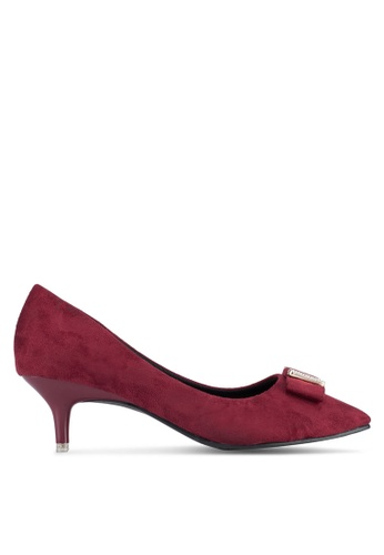 Spiffy red Low Block Heels With Ribbon 547B7SH75A7CE1GS_1