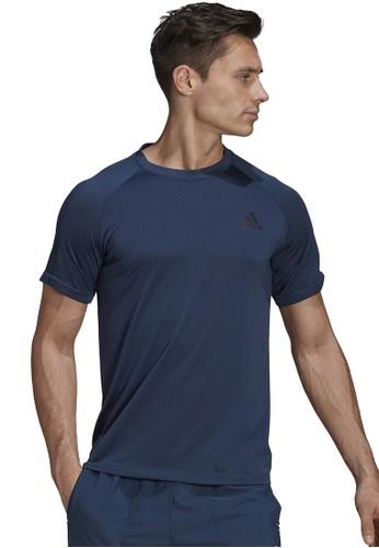 ADIDAS black and navy men d2m seamless t-shirt 4758BAA5B53BCCGS_1