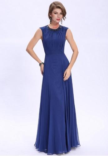 Buy ANNE F Glamorous Silk Chiffon Beaded Evening Gown | ZALORA HK
