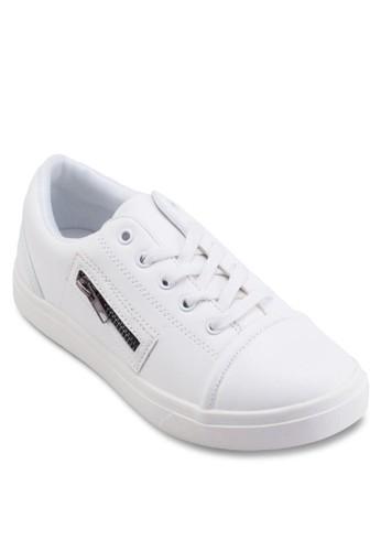 esprit服飾側拉鍊繫帶運動鞋, 女鞋, Tomboy Chic