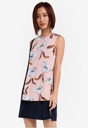 ZALORA pink Colorblock Mini Dress 22F23AA586224EGS_1