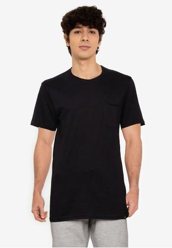 !Solid black Pocket T-Shirt 92F76AA4813CC3GS_1