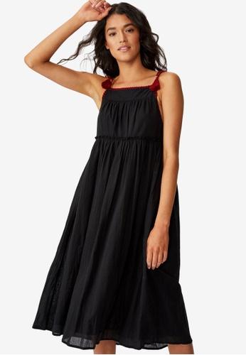 Cotton On black Woven Bonnie Voile Dress 5AC8BAA8F7E322GS_1