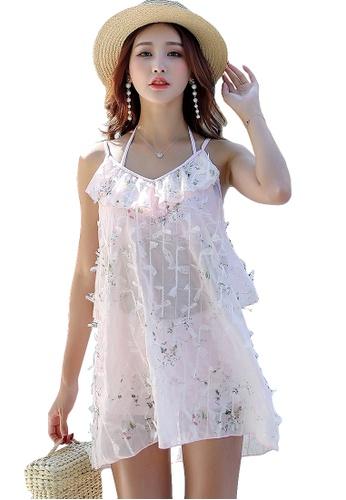YG Fitness pink (3PCS) Small Fresh Bikini Swimsuit Set EDDE0USC3D15D3GS_1