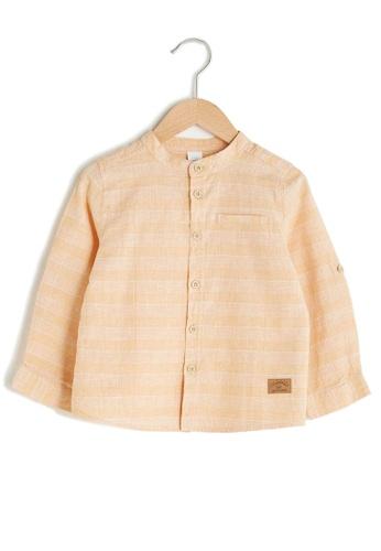 LC Waikiki yellow Baby Boy Shirt AE31CKAFBFF4F0GS_1