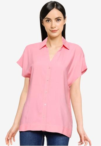 Vero Moda pink Felicity Shirt 5E5B8AAE6D02EFGS_1