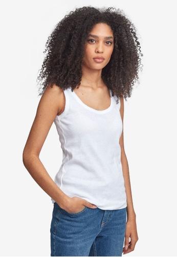 Dorothy Perkins white White Picot Trim Vest 0EE11AA73769E4GS_1