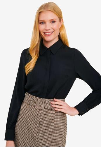 FORCAST black Ciara Button Up Blouse 15325AA8459E22GS_1