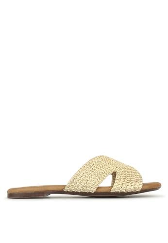 Betts beige Ibiza Woven Slip On Sandals 931DFSHB714A8DGS_1