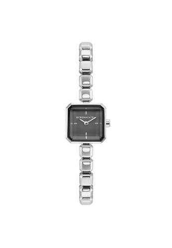 BCBG black and silver Bcbgmaxazria  Silver Tone Square steel BCBG Watch BG50677001 Ladies Watch 1AD87ACE9C3127GS_1