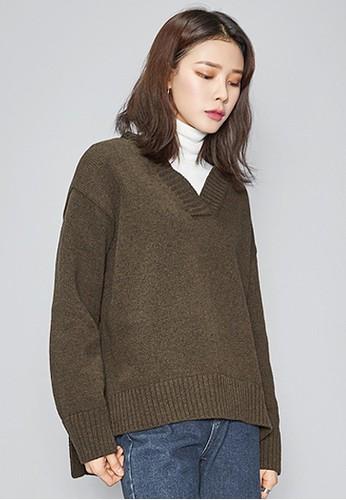 簡約V領羊毛esprit 香港針織上衣, 服飾, 毛衣& 針織外套