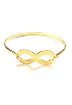Stainless Gold Infinity Bangle