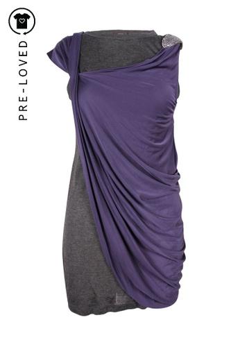 Vera Wang purple Pre-Loved vera wang two Layers draped dress with crystal embellishments 2A91DAA127B70AGS_1