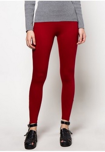 Point One red RED Original Legging Zipper Detail PO706AA0WG06ID_1