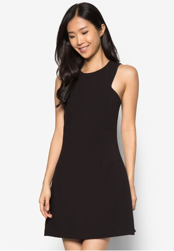素色無袖連身裙zalora鞋子評價, 服飾, 洋裝