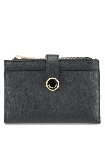 Perllini&Mel black Faux Leather Mid-Size Wallet 7405BACCD5C5AEGS_1
