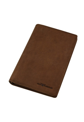 EXTREME brown Extreme Genuine Leather Long Wallet RFID Protected Multi Slots Vintage Brown CA1A1AC269C36FGS_1
