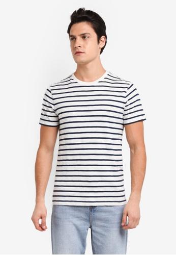 J.Crew white Deck Stripe Slub Jersey Tee FF3BBAAEE27651GS_1