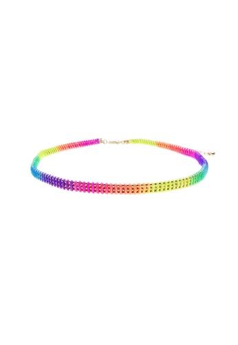 LUCCACAL multi Rainbow Chain-Link Choker LU294AC69UIGMY_1