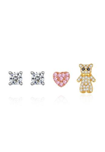 SUNRAIS silver High quality Silver S925 silver heart earrings DC8DFAC749D6F2GS_1
