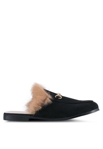addicts anonymous black Brooklyn Fur Classic Mules Flats AD479SH0SR65MY_1