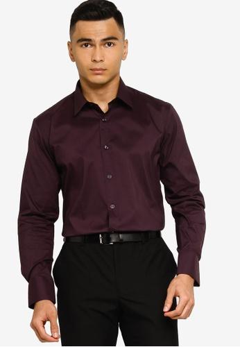 Sacoor Brothers purple Slim fit super comfort easy iron shirt 935EAAADA8BB35GS_1