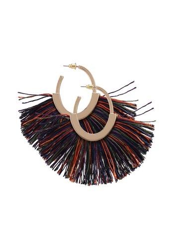 Mango green Fringe Earrings B9CCFACBA4DABBGS_1