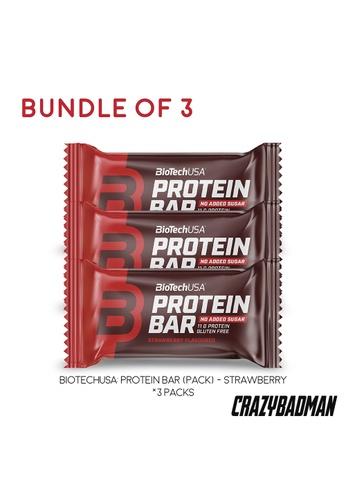 BioTechUSA [Bundle of 3] Protein Bar - Strawberry 35g 978D5ES94643B8GS_1