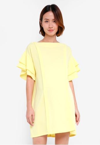 Spring Maternity yellow Maternity Flare Sleeve Yulia Nursing Dress 9CA2BAAE762799GS_1