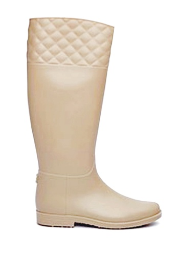 Twenty Eight Shoes beige Rhombic Long Rain Boots VT826 TW446SH87BRWHK_1