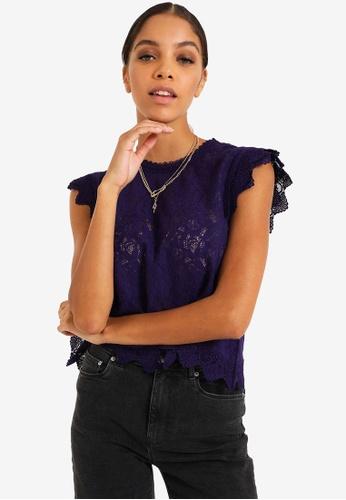 PIMKIE purple Lace Blouse C81EEAA51164A4GS_1