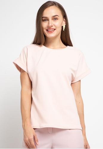 CHANIRA LA PAREZZA pink Chanira La Parezza Livia Blouse- Peach 551ECAA443305FGS_1