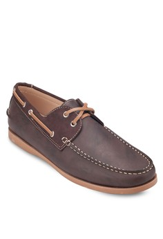 Mixed Material Boat Shoes